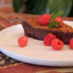 Tourte au chocolat sans gluten et sans farine