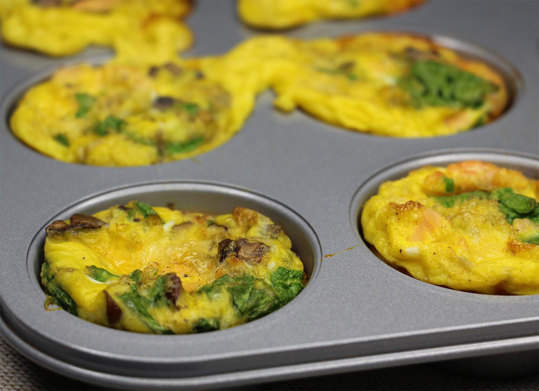 Muffins œuf et saumon fumé