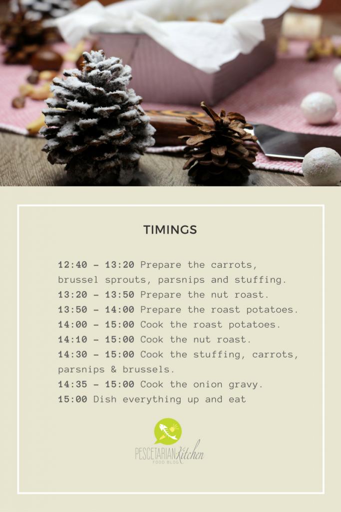 Pescetarian Christmas Dinner Timings