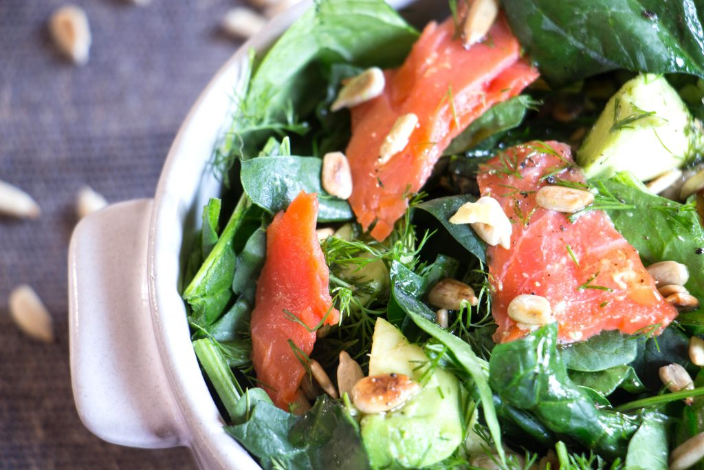 Smoked Salmon and Avocado Salad