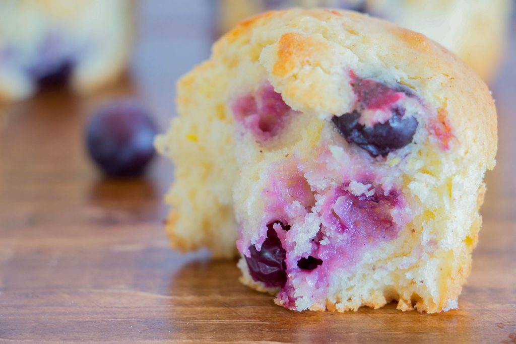 Blueberry and lemon muffin 3