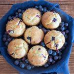 Muffins aux myrtilles et citron