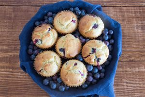 Blueberry and lemon muffins 2