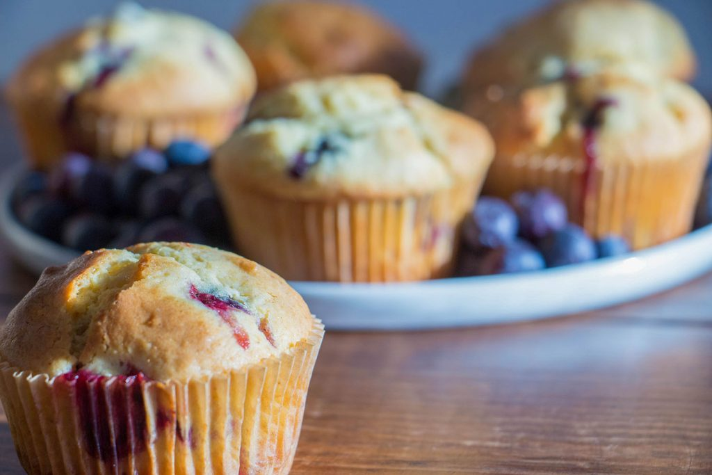 Blueberry and lemon muffins 4