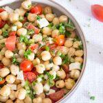 Salade grecque de pois chiches