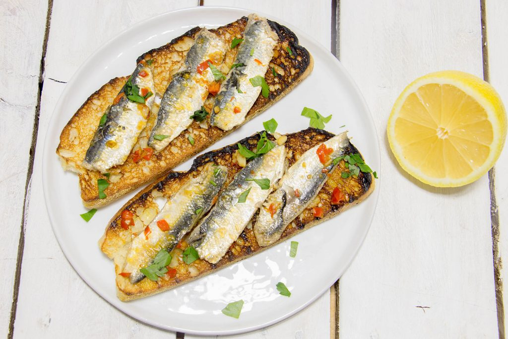 Sardines on toast