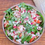 Salade croquante aux radis