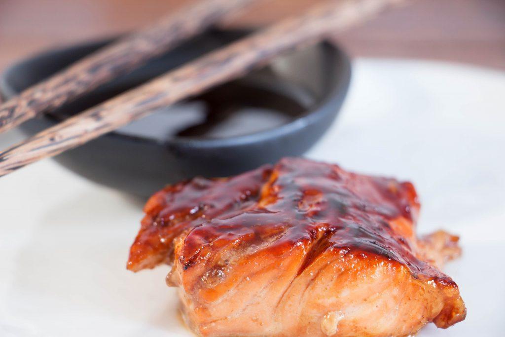 teriyaki glazedi salmon