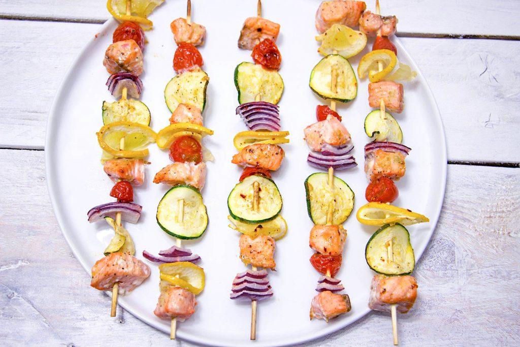 Salmon kebabs 2